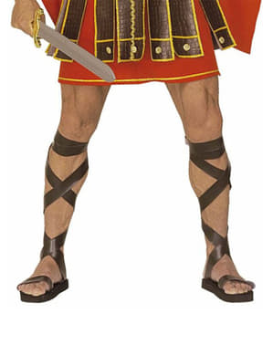 Římské sandále s efektem kůže
