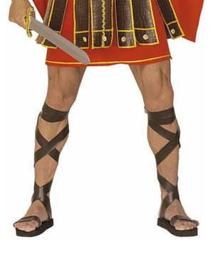 Romeinse sandalen met leereffect