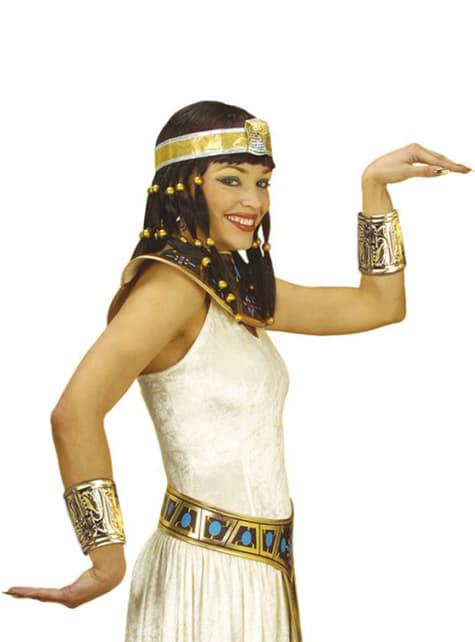 Cuello y brazaletes de egipcia