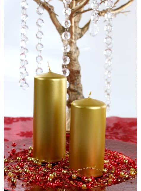 Kerzen Set 6-teilig gold 15 cm
