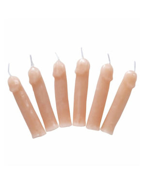 Kaarsjes in penisvorm