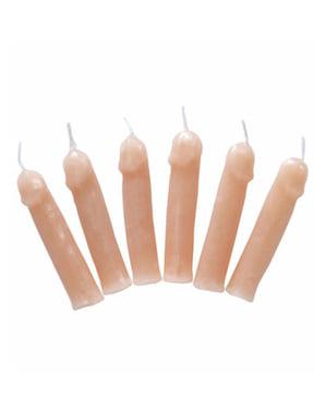 Peniksenmuotoiset kynttilät