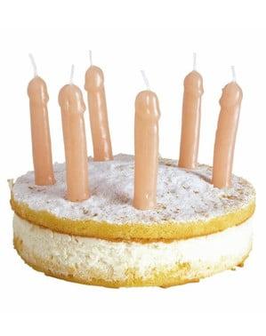 Świeczki w kształcie penisów