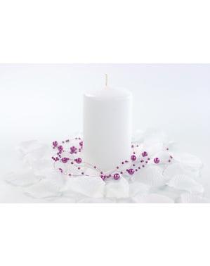 6 सफेद स्तंभ मोमबत्तियों का सेट, 10 सेमी