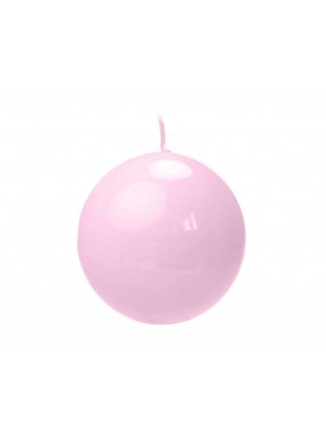 10 velas esféricas rosa claro lacado (6 cm)