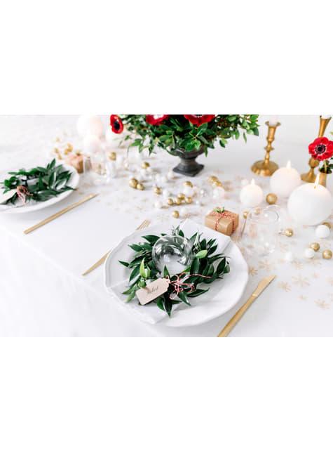 10 bougies rondes blanches de 6 cm