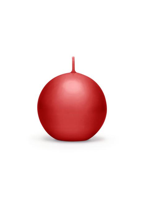 6 velas esféricas rojas (8 cm)