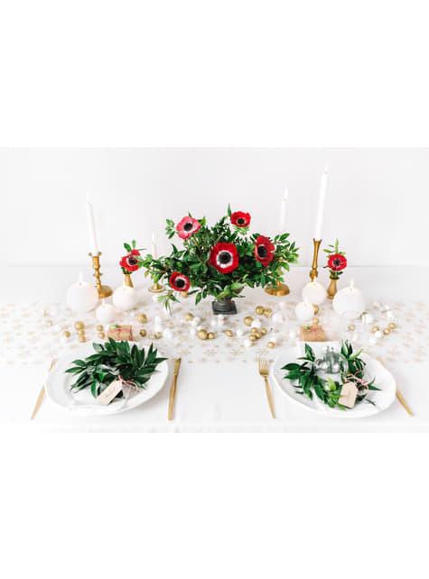 6 candele sferiche bianche (8 cm)