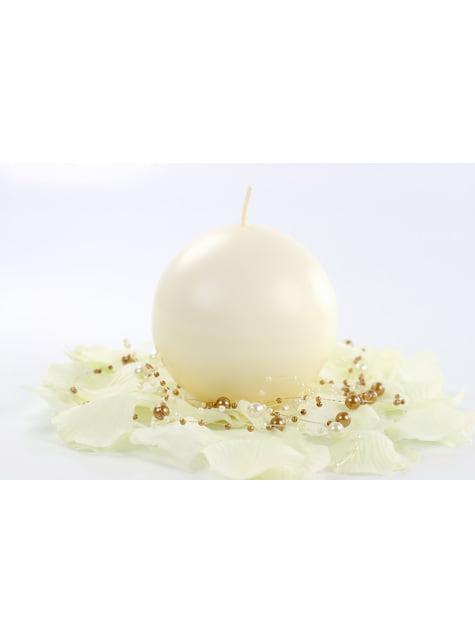 6 velas esféricas cremas (8 cm) - para niños y adultos