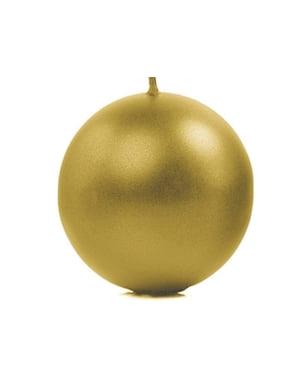 6 गोल्ड बॉल कैंडल्स का सेट, 10 सें.मी.