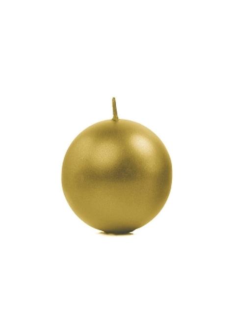 10 velas esféricas doradas (6 cm)