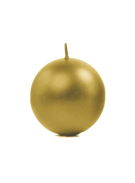 6 velas esféricas doradas (8 cm)