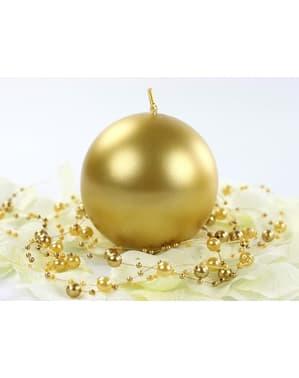 Zestaw 6 złota świeczka kula 8cm