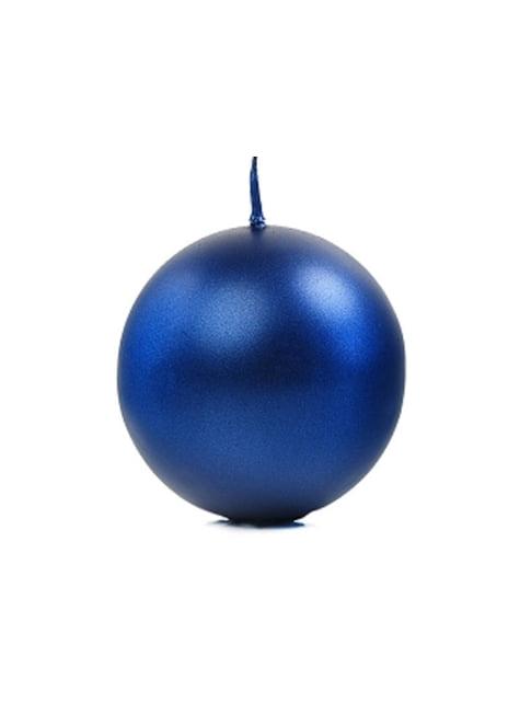 6 velas esféricas azules marino (8 cm)