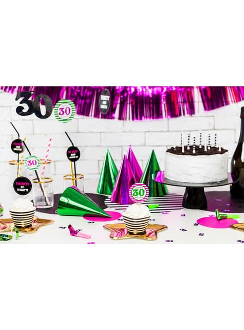 6 pajitas 30th - Milestone Birthday - barato
