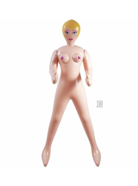 Inflatable blonde doll