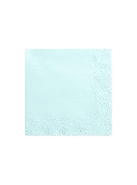 20 servilletas azules cielo (33x33 cm)