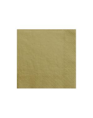 20 kultaista paperinenäliinaa