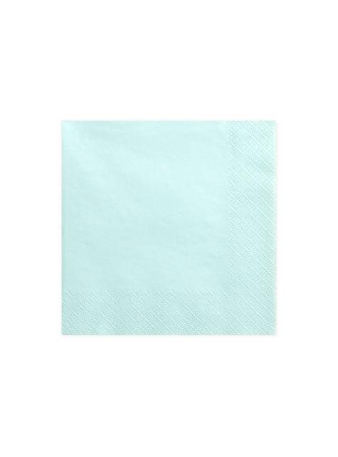 20 servilletas azules turquesa pastel de papel (33x33 cm)