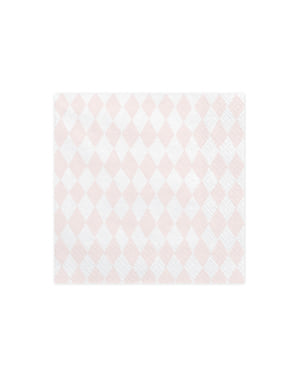 20 servilletas estampadas rosa pastel de papel (33x33 cm) - Unicorn