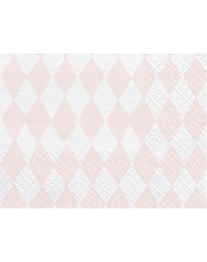 20 Printed Paper Napkins, Pastel Pin (33x33 cm) - Unicorn