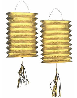 Dekorativní lampiony zlaté
