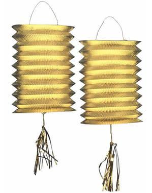 Lampions décoratifs dorés