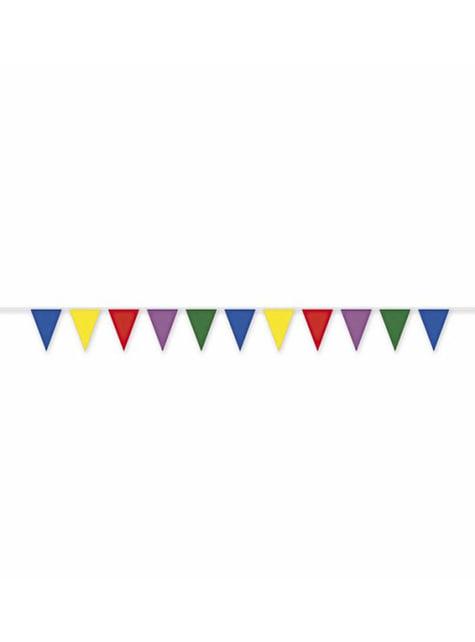 Guirlande en plastique multi couleur