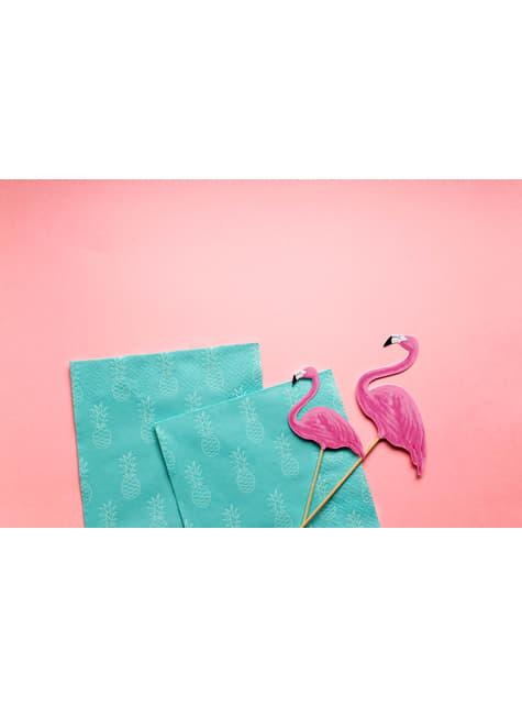 20 servilletas azules con piñas (33x33cm) - Aloha Turquoise - comprar