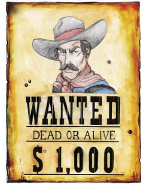 Poster Wanted uit het wilde westen