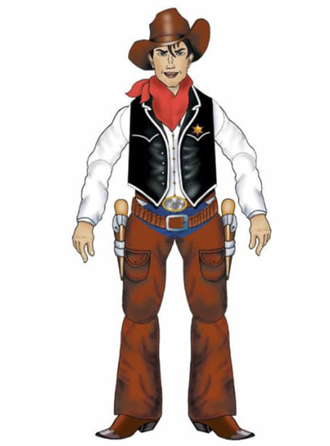 Leddelt pyntecowboy