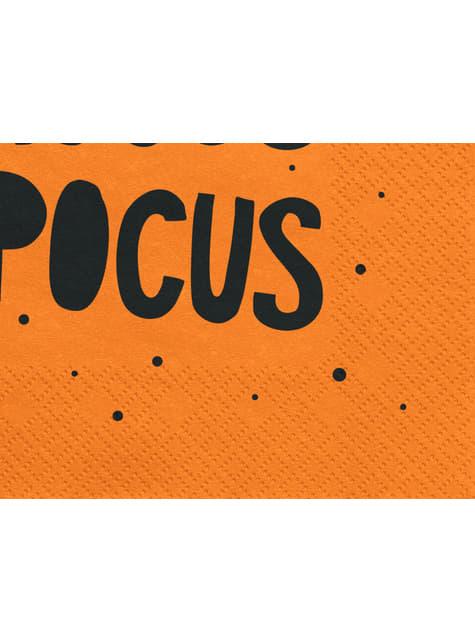 20 Papierservietten schwarz und orang (33x33 cm) - Hocus Pocus
