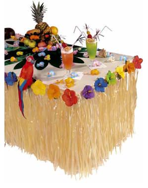 Falda de mesa hawaiana con flores