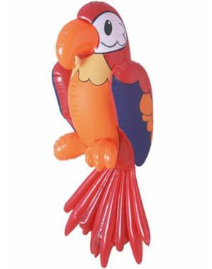 Червен надуваем папагал
