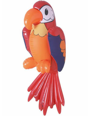 Piros felfújható papagáj