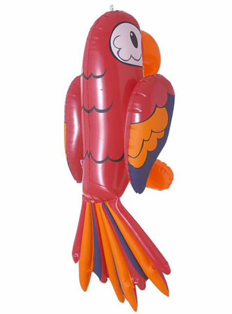 Red inflatable parrot