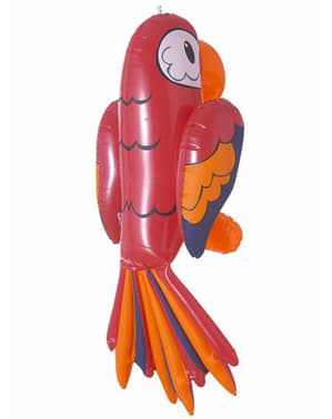 Papagaio insuflável vermelho