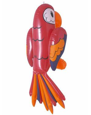 Röd uppblåsbar papegoja