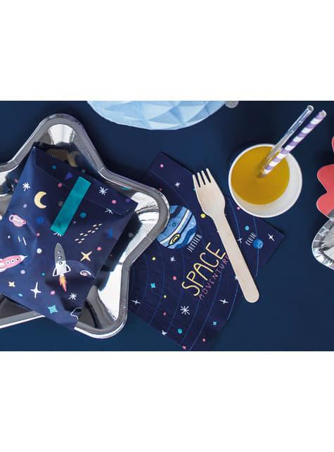 20 servilletas azules con estampado