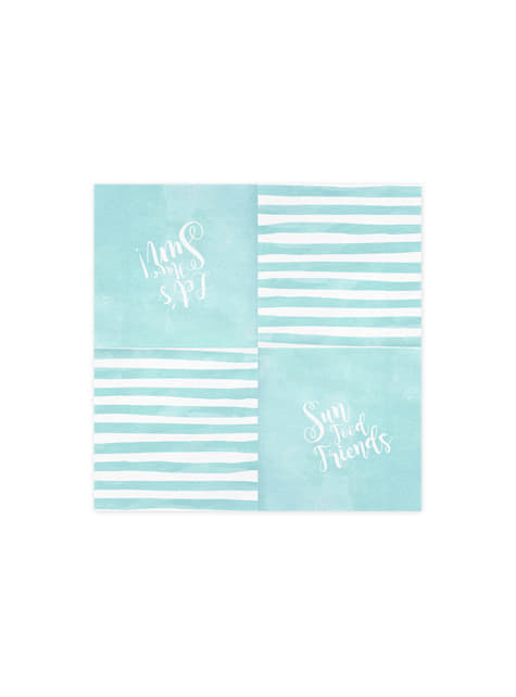 20 servilletas azules