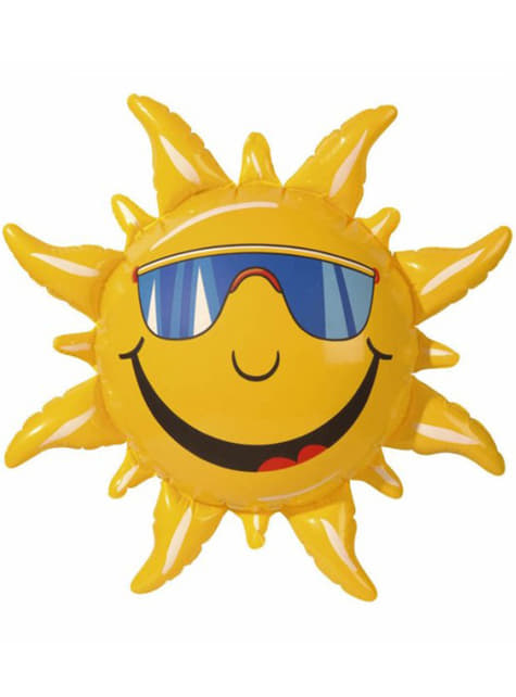 Słońce dmuchane uśmiechnięte