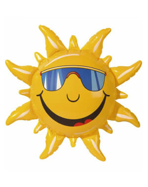 Sol insuflável sorridente