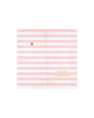 20 paper napkins in pastel pink with
