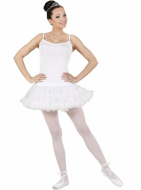 White ballet dancer costume