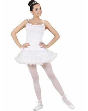 Hvit balettdanser kostyme