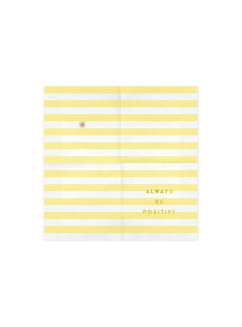 20 servilletas amarillas pastel con estampado