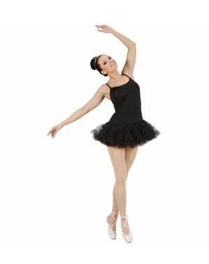 Disfraz de bailarina de ballet negro