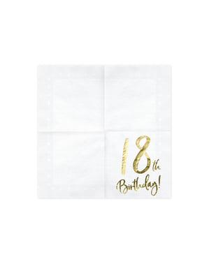 Papierservietten Set 20-teilig weiß
