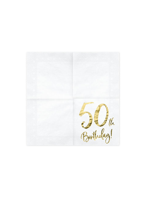 20 servilletas blancas