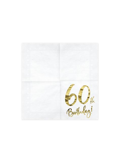 20 serviettes blanches